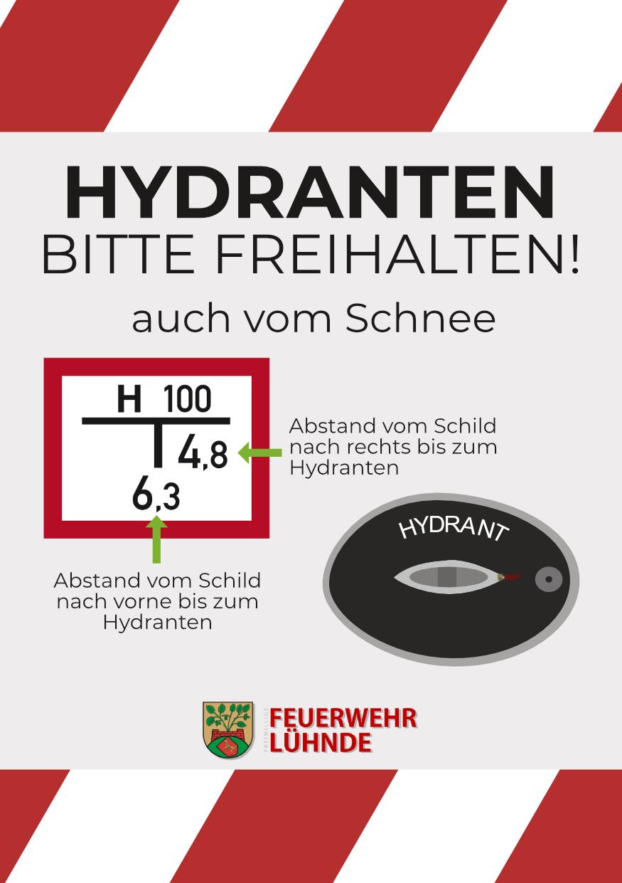 Bitte haltet die Hydranten frei!